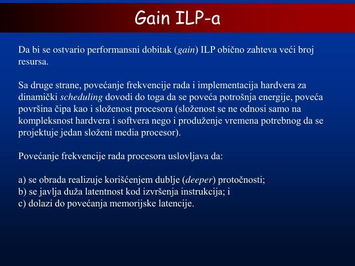Gain ILP-a