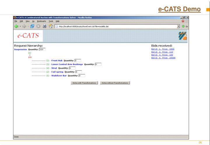 e-CATS Demo