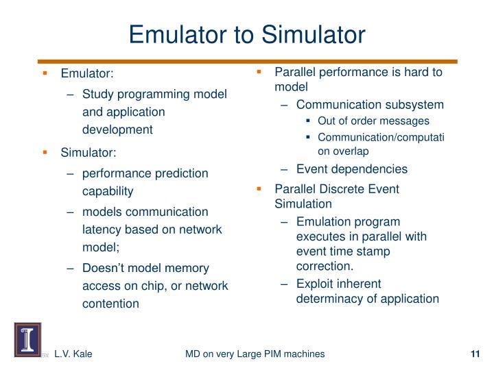 Emulator: