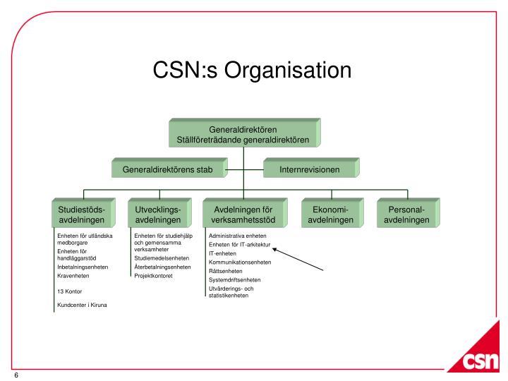 CSN:s Organisation