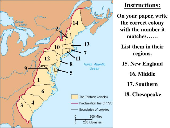 geographical differences between new england and chesapeake