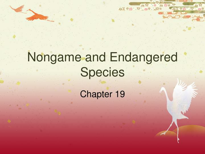 nongame and endangered species n.