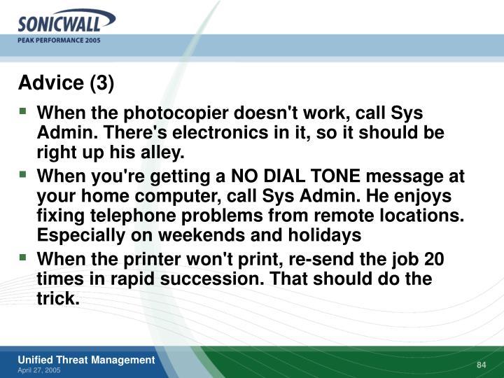 Advice (3)