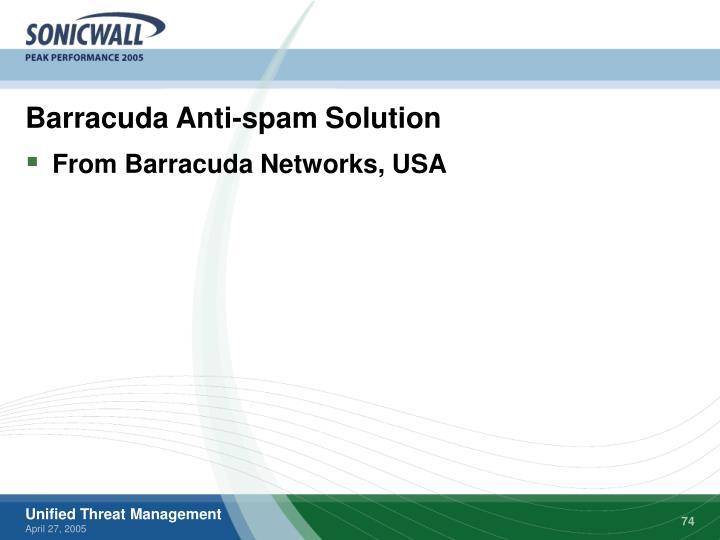 Barracuda Anti-spam Solution