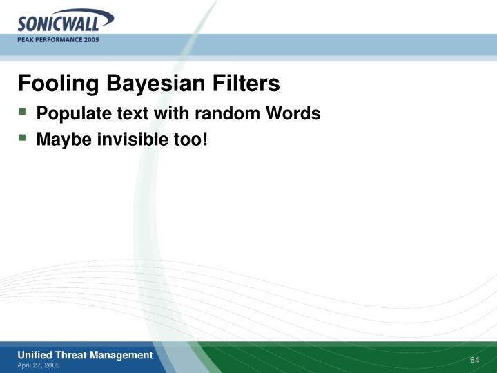 Fooling Bayesian Filters