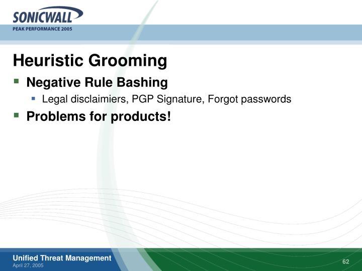 Heuristic Grooming