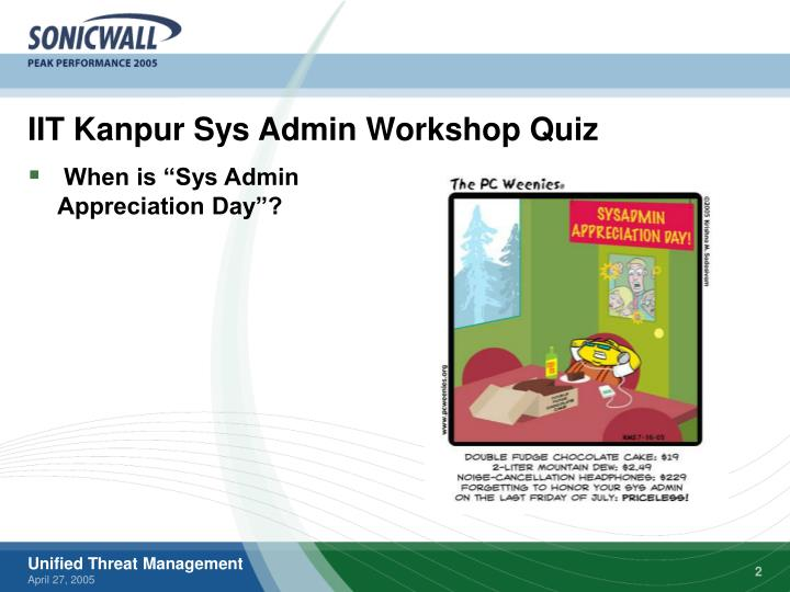 Iit kanpur sys admin workshop quiz
