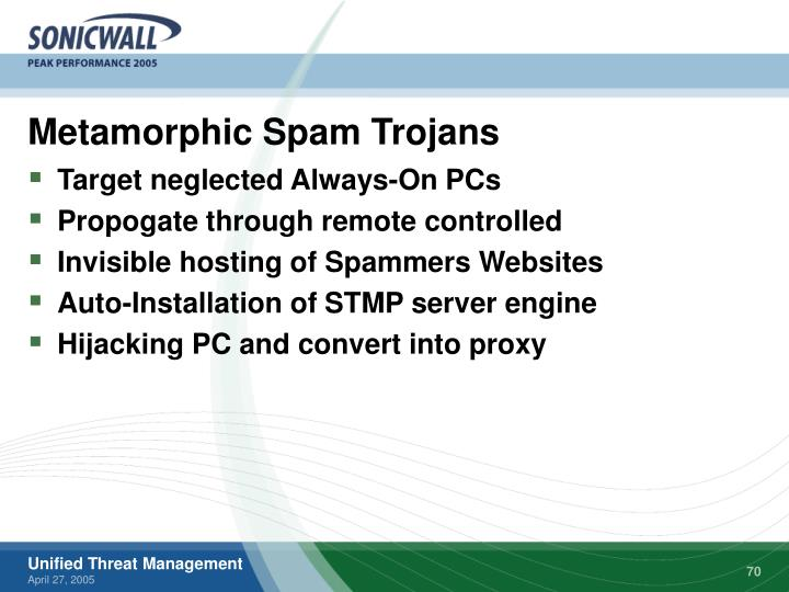 Metamorphic Spam Trojans