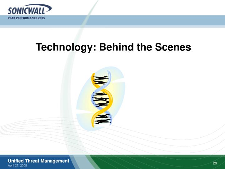Technology: Behind the Scenes