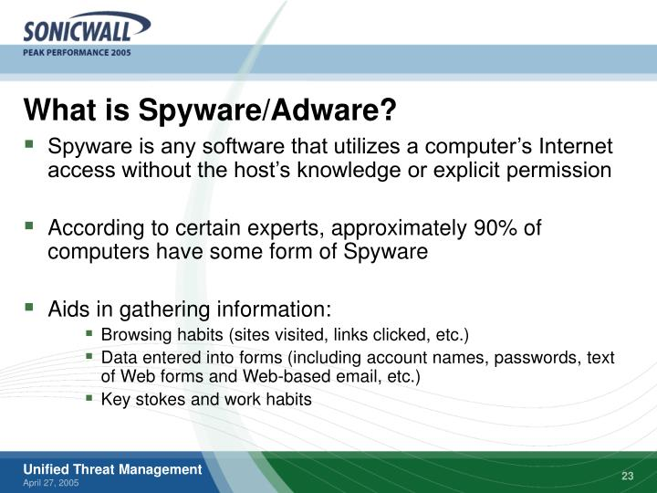 What is Spyware/Adware?