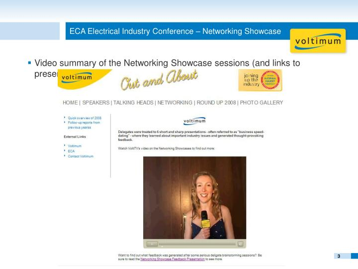 Eca electrical industry conference networking showcase