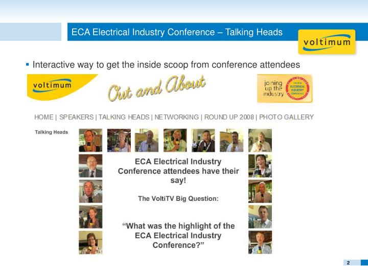 Eca electrical industry conference talking heads