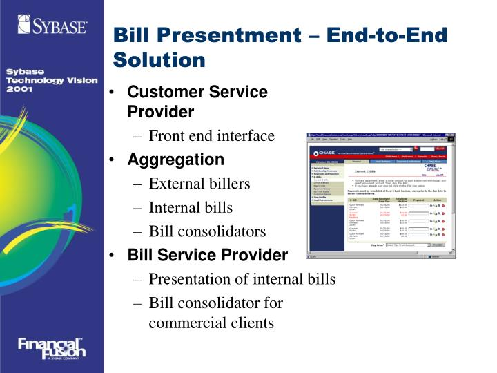 Bill Presentment – End-to-End Solution