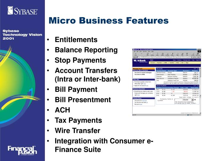 Micro Business Features