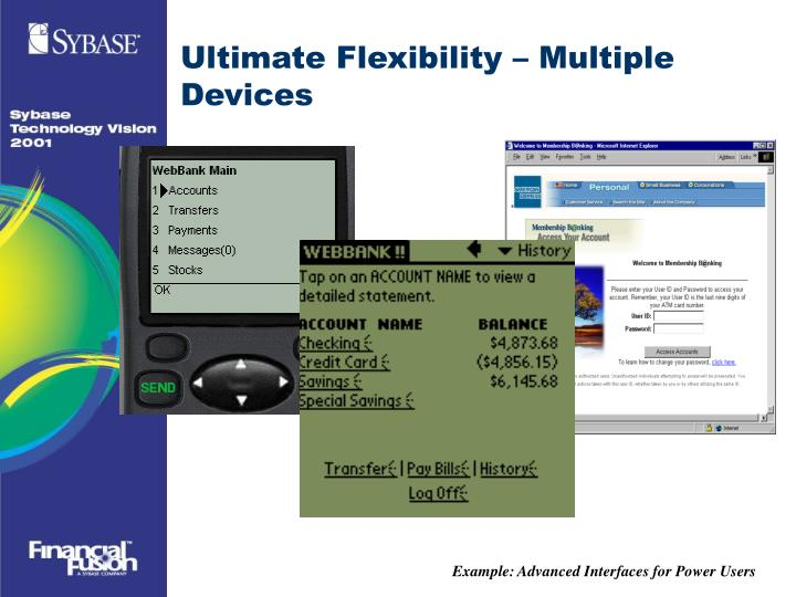 Example: Advanced Interfaces for Power Users