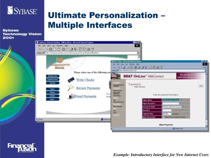 Ultimate Personalization – Multiple Interfaces