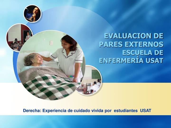 EVALUACION DE PARES EXTERNOS