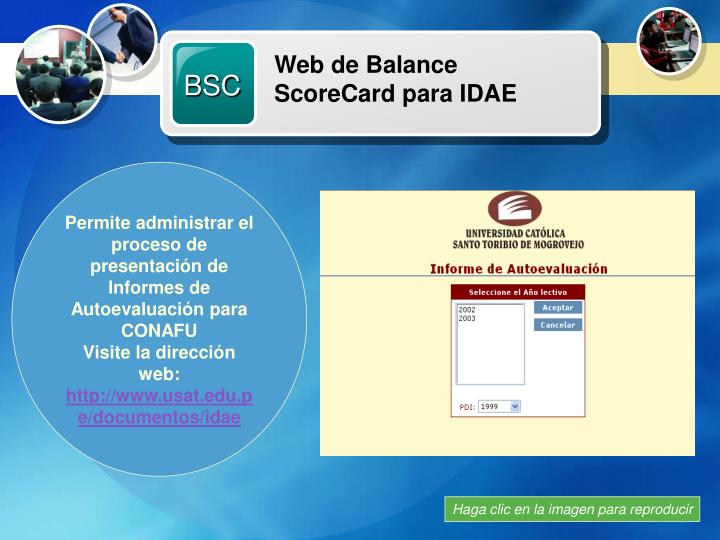 Web de Balance ScoreCard para IDAE