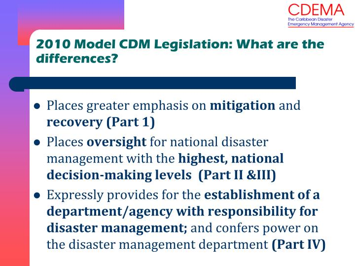 2010 Model CDM Legislation: What are the differences?