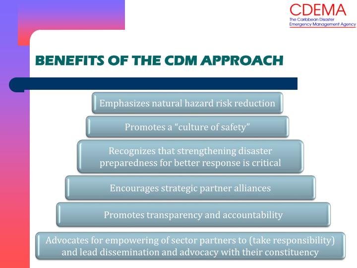BENEFITS OF THE CDM APPROACH