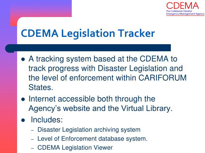 CDEMA Legislation Tracker