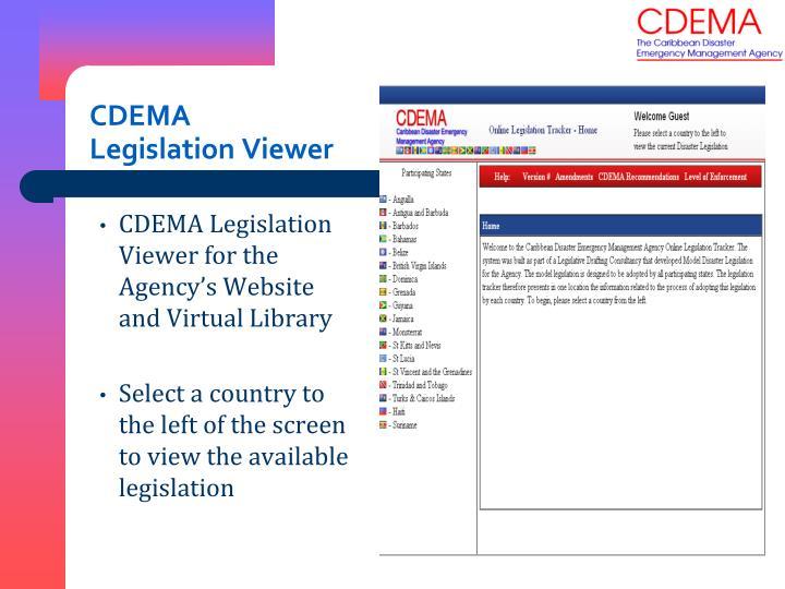 CDEMA Legislation Viewer