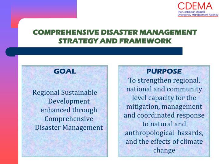 COMPREHENSIVE DISASTER MANAGEMENT STRATEGY AND FRAMEWORK