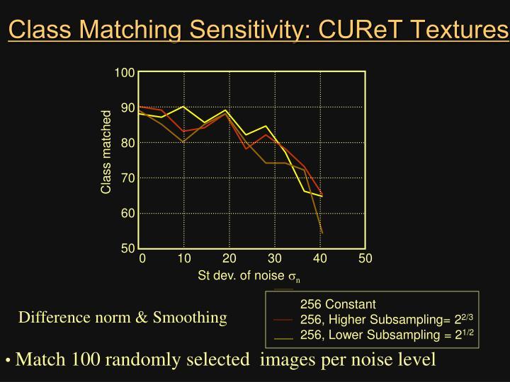 Class Matching Sensitivity: CUReT Textures