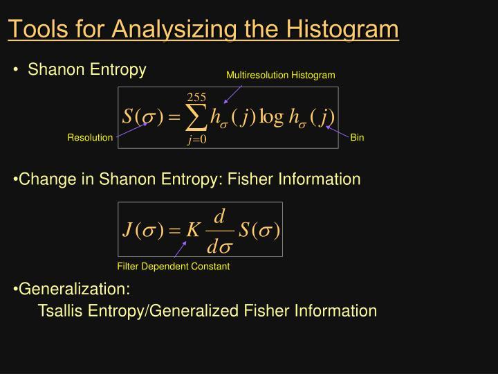Tools for Analysizing the Histogram