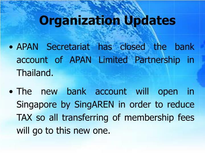 Organization Updates