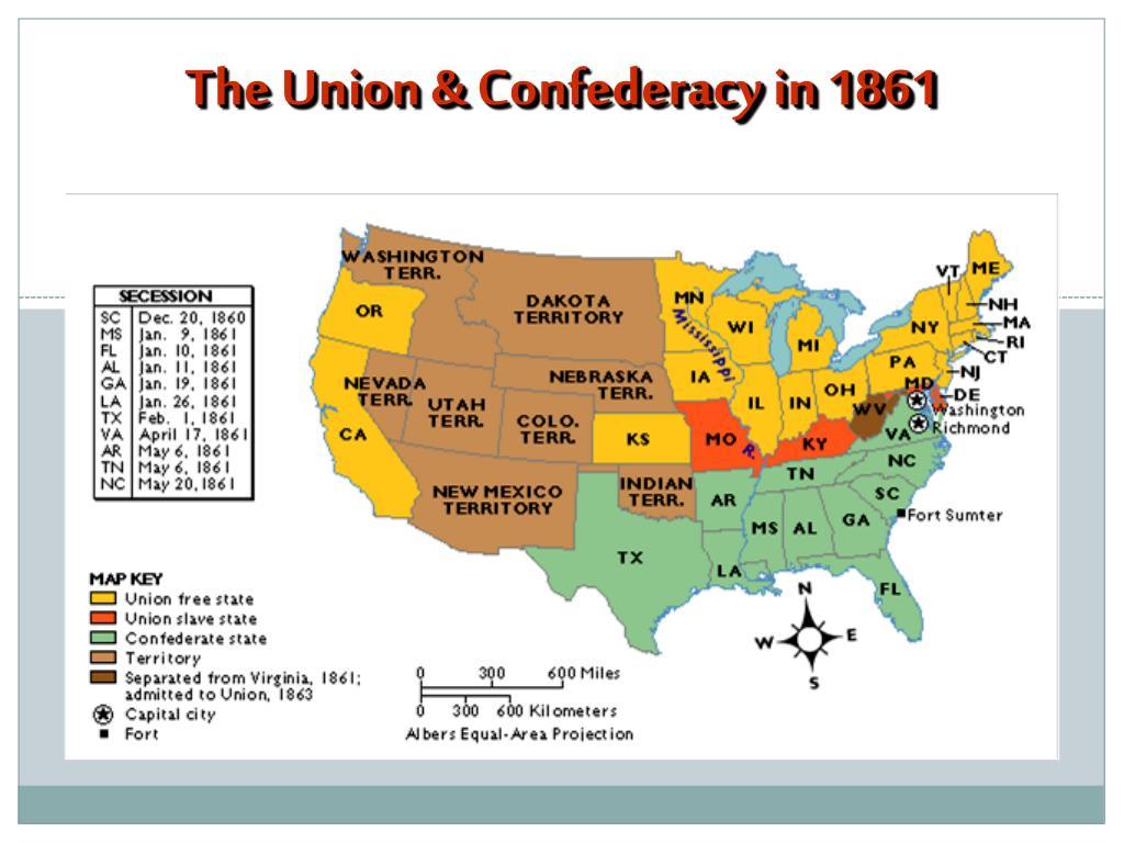 PPT - The Civil War (1861-1865) Through Maps, Charts ...