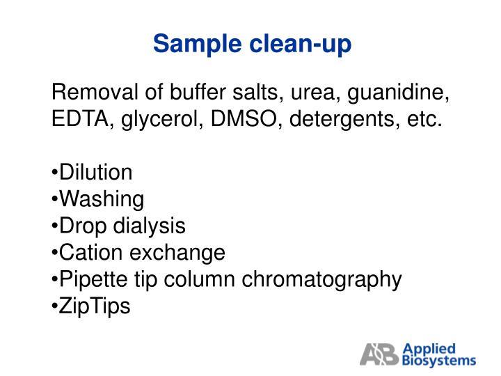 Sample clean-up