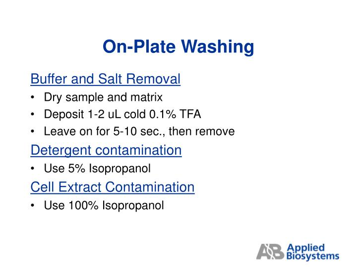 On-Plate Washing