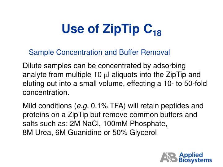 Use of ZipTip