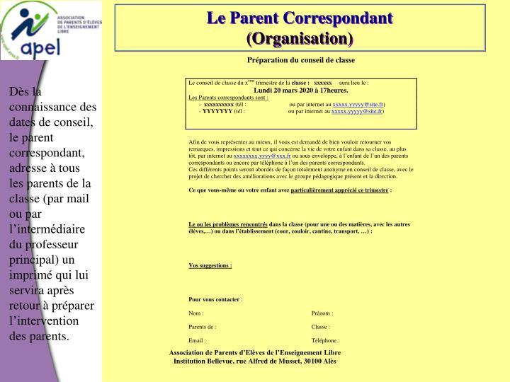 Le Parent Correspondant