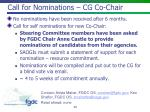 call for nominations cg co chair