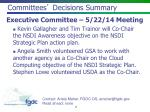 committees decisions summary