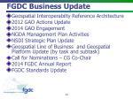 fgdc business update