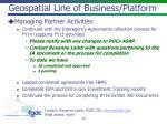 geospatial line of business platform