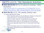 incits l1 u s tag standards activities
