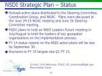 nsdi strategic plan status