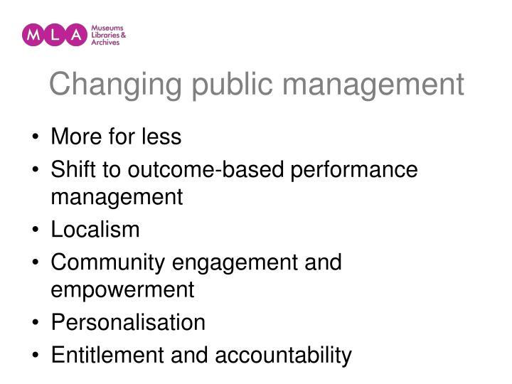 Changing public management