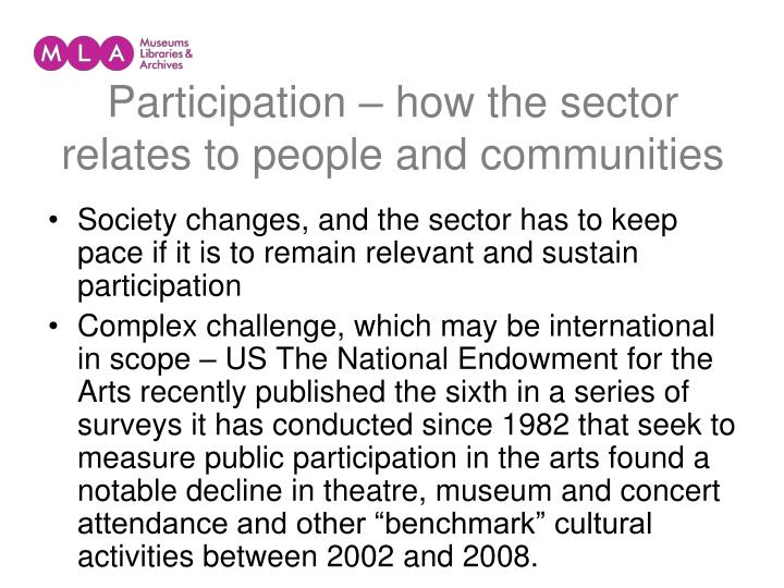 Participation – how the sector relates to people and communities