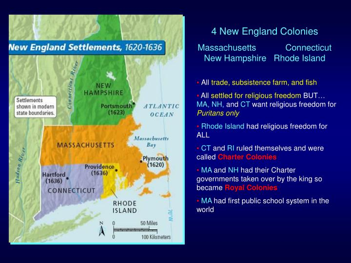 4 New England Colonies
