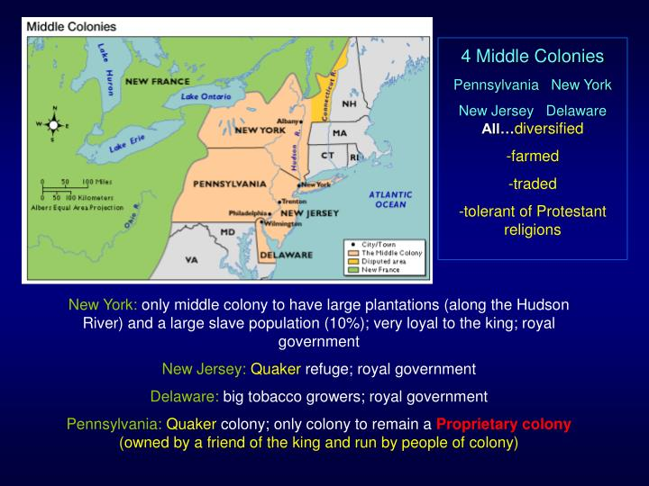 4 Middle Colonies
