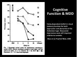 cognitive function mdd