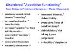 disordered appetitive functioning1