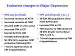 endocrine changes in major depression