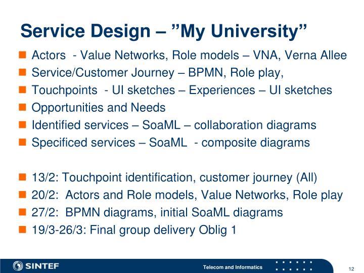 "Service Design – ""My University"""