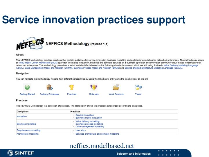 Service innovation practices support